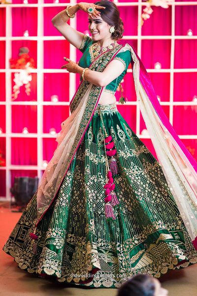 Ghagra Choli Sangeet Bridal Look