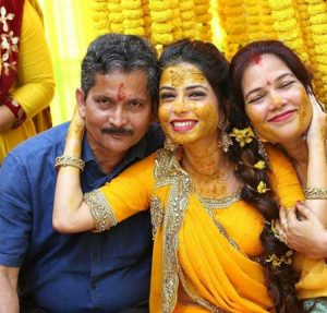 Haldi Ceremony Poses with Parents