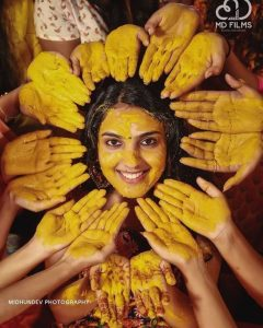 Haldi Poses for Bride Only