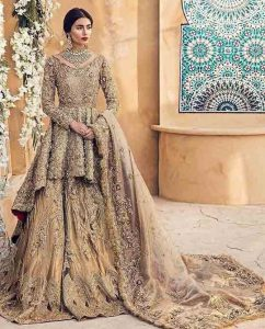 peplum dress with lehenga