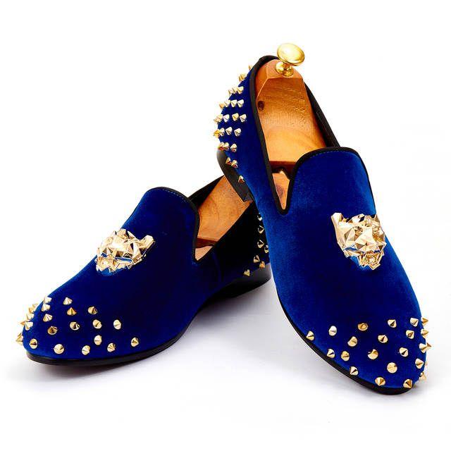Navy Velvet Shoes
