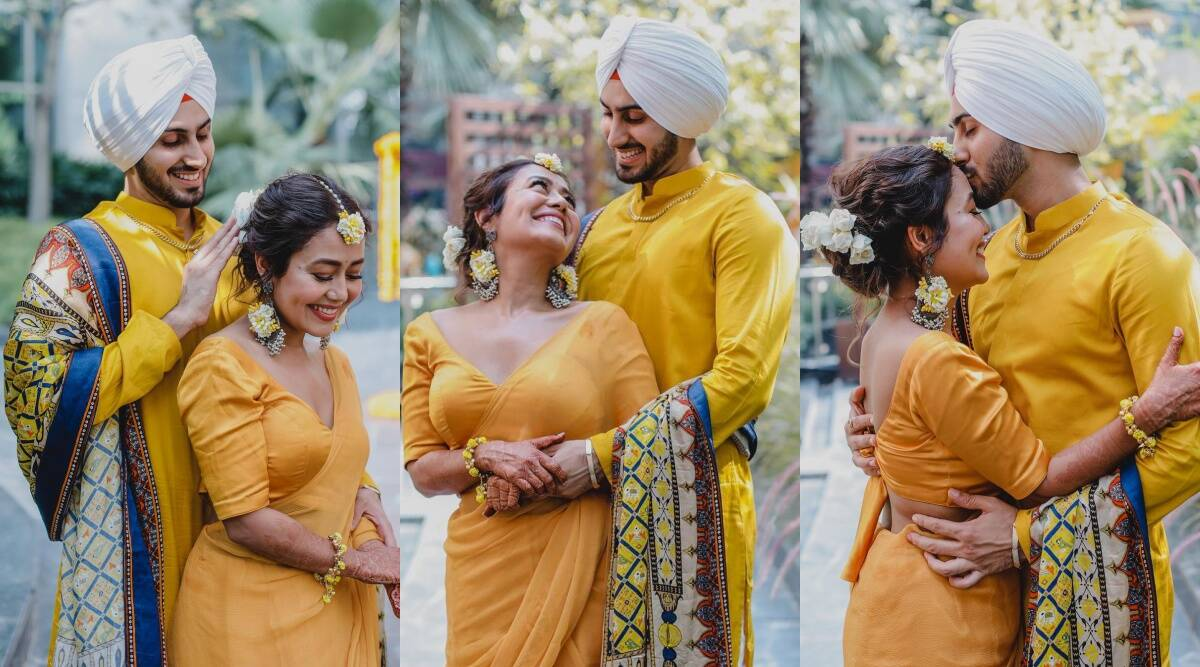 Neha Kakkar Pose for Haldi Day