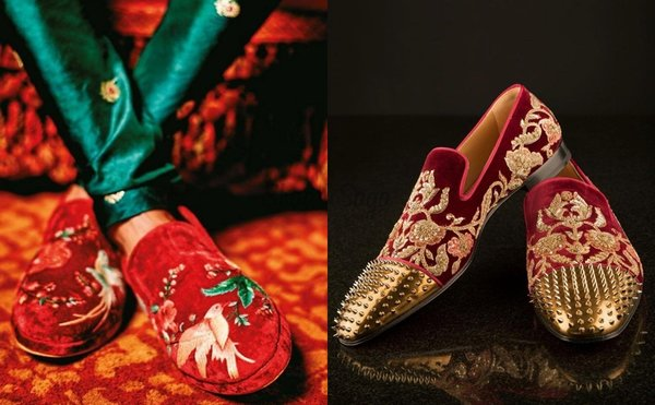 Red Velvet Loafers