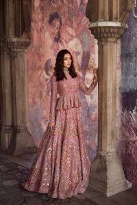 Short Peplum Dress with Lehenga