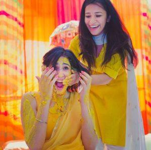 Sisters Haldi Photo