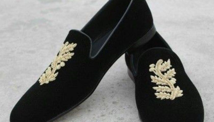 velvet shoes for groom