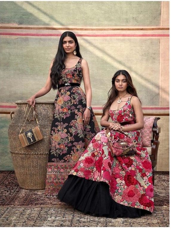 Floral Lehenga with Frill at the Bottom