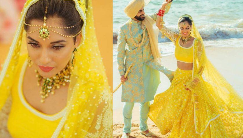 Yellow Bridal Lehengas