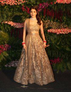 Anushka Sharma Golden Lehenga