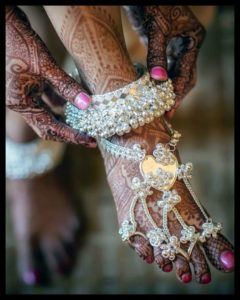 Not so Traditional Chandi Payal Designs for Bride