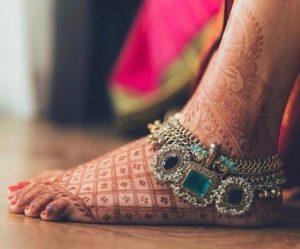 Embellished Bridal Anklet Design