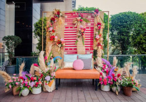 Floral Seating Decoration
