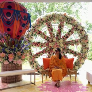 Floral Spin Wheel Seating
