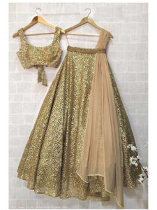 Golden Sequin Lehenga