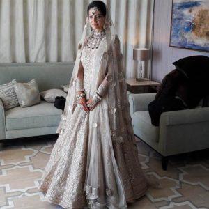 Grey and White Wedding Lehenga