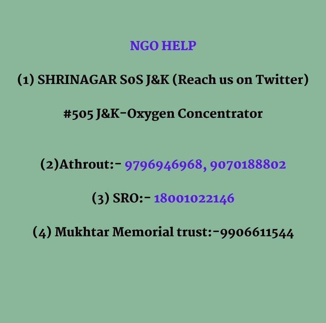 Oxygen Retailers and NGO Help