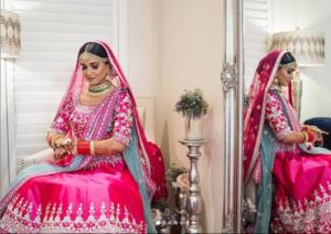 Sparkling Pink Bridal Lehenga