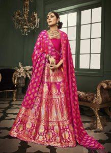 Pink Banarasi Lehenga