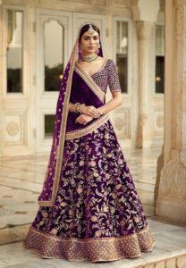 Purple and Gold Lehenga