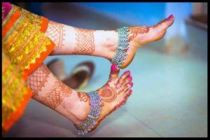 Silver Anklets Designs for Bride