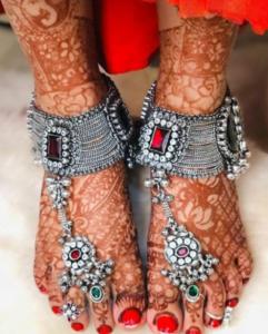 Silver Payal Designs for Bride