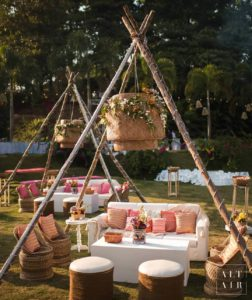 Tent Styled Seating Arrangement