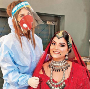 Bridal Makeup at Intimate Wedding