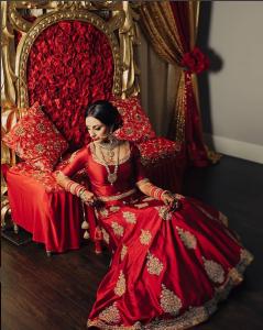 Dark Red Bridal Lehenga