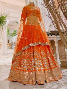 Dulhan Lehenga Orange Color