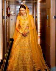 Offbeat Orange Color Lehenga for Bride