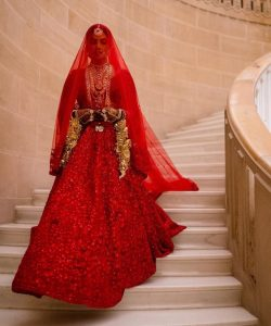 Priyanka Chopra Red Lehenga
