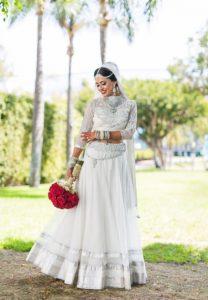 Pure White Bridal Lehenga