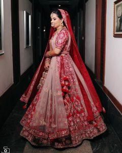 Red Bridal Lehenga With Double Dupatta