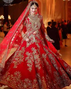 Sumptuous Red Lehenga For Marriage