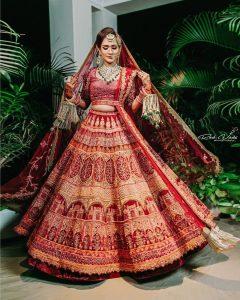 Unique Red Wedding Lehenga