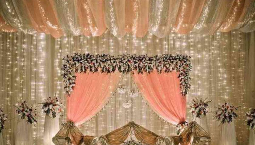 fairy light wedding decorations