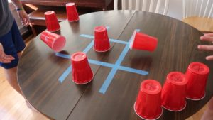 Tic-Tac-Toe Game with cups