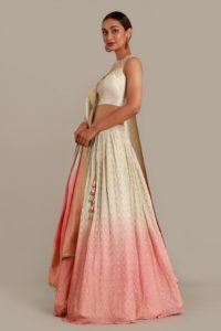 Multicolored Ombre Designer Lehenga