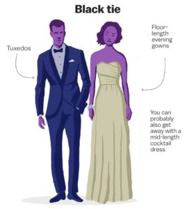 wedding dress code themes