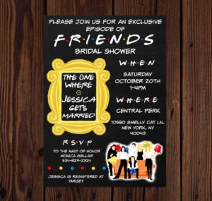 Friends Theme Wedding Ideas