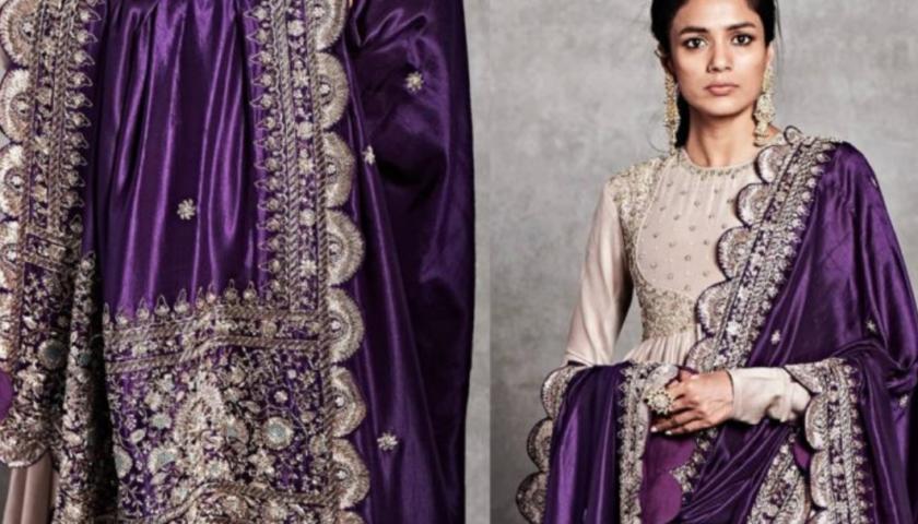 bridal dupatta designs