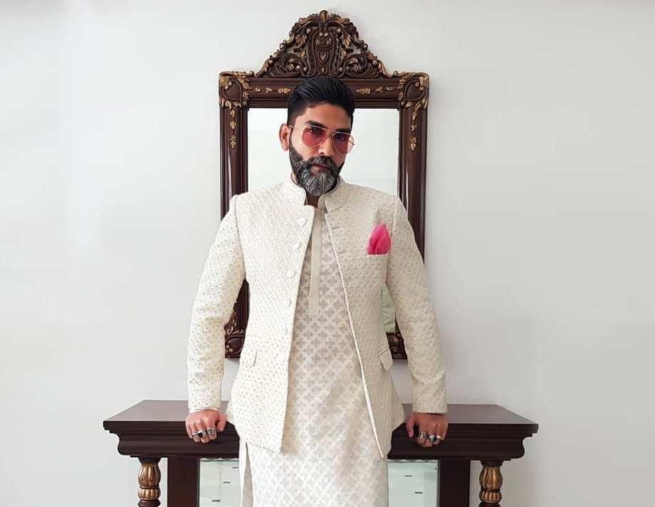 chikankari Jodhpuri Suits for Wedding