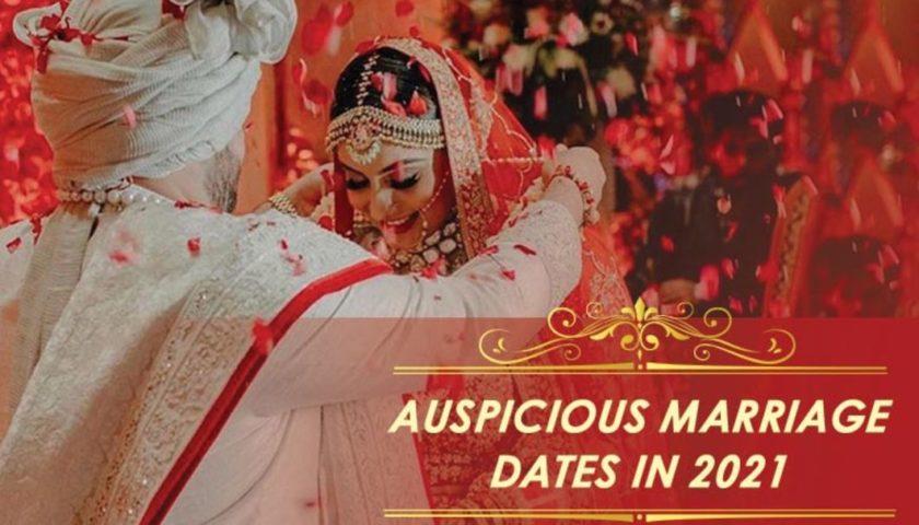 luckiest wedding dates in 2021