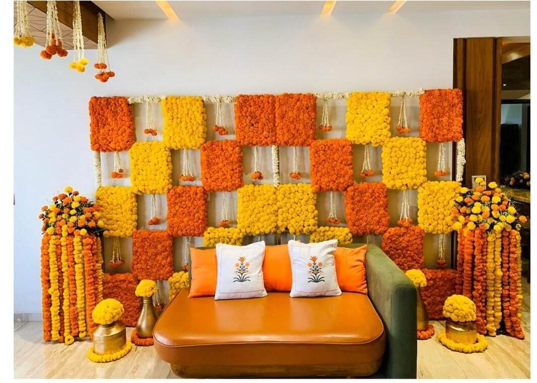 marigold yellow theme wedding colors