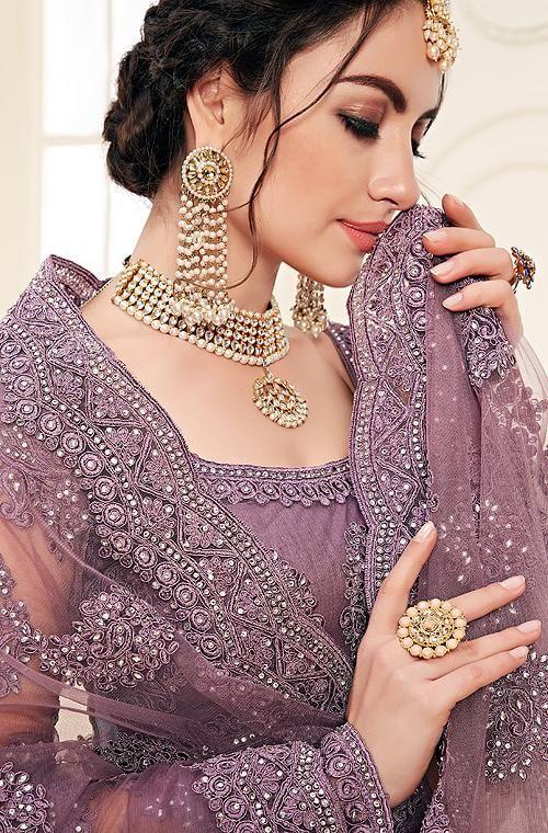 mauve purple theme wedding colors