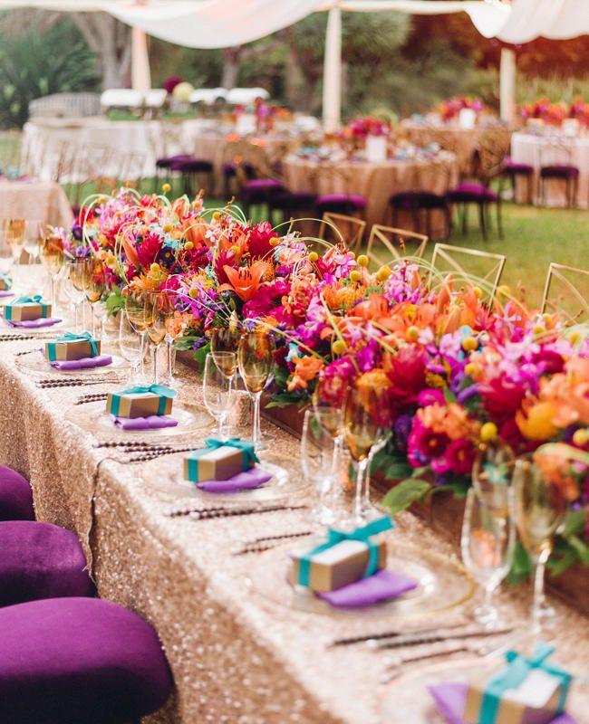 multicolor theme wedding colors