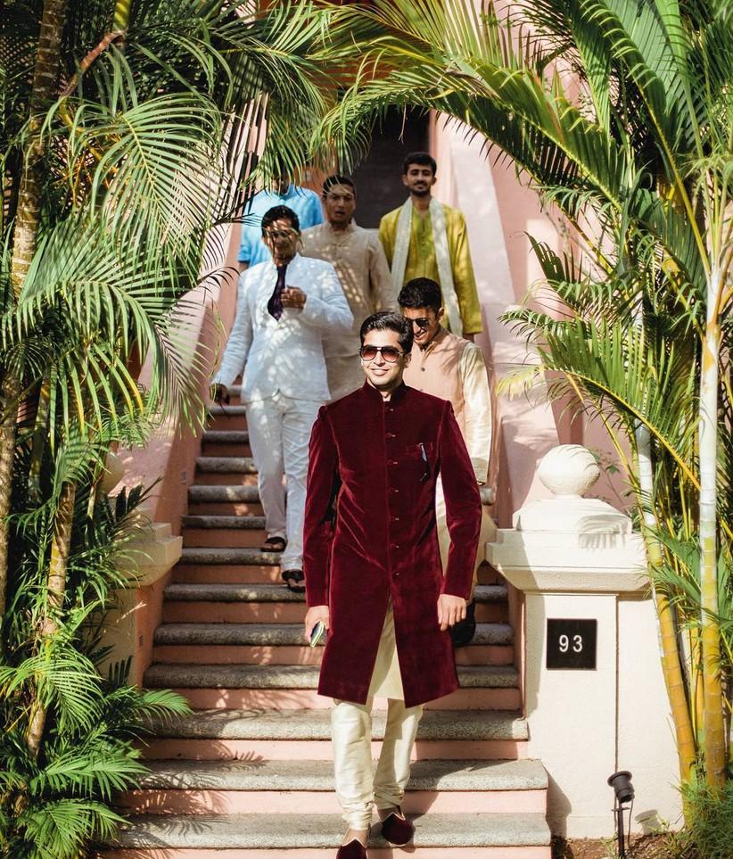 velvet and silk Jodhpuri Suits for Wedding